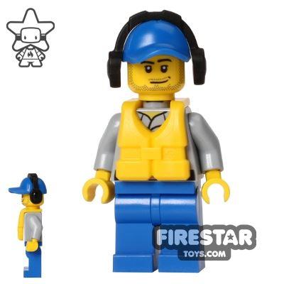 LEGO City Mini Figure - Coast Guard - Crew Member with Headphones