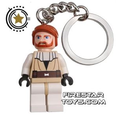 LEGO Star Wars Minifigure Clone Wars Obi-Wan Kenobi Key Chain
