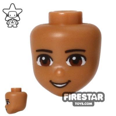 LEGO Friends Mini Figure Heads - Brown Eyes