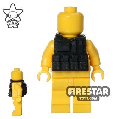 CombatBrick - Ammo Vest with Hydration Backpack - Black