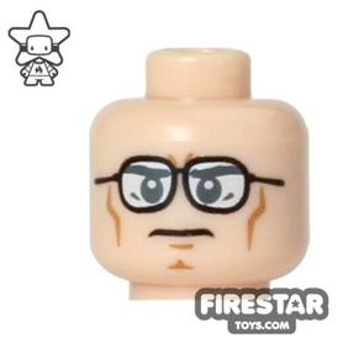 LEGO Mini Figure Heads - Clark Kent/Superman