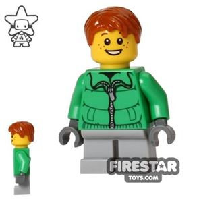 LEGO Holiday Mini Figure - Boy - Green Jacket
