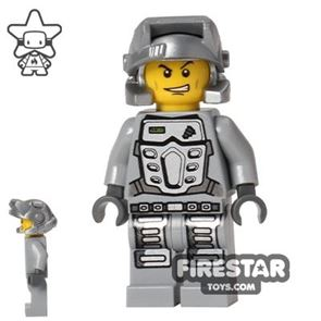 LEGO Power Miners Mini Figure - Doc - Gray Outfit