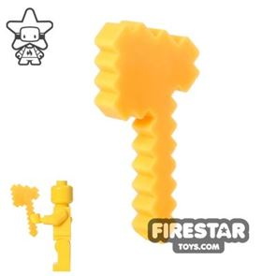 BrickTactical - Minecraft Axe - Neon Orange