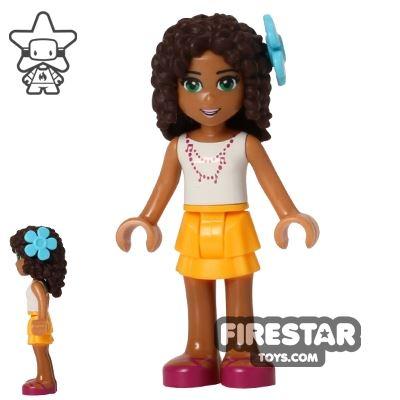 LEGO Friends Mini Figure - Andrea - Orange Skirt