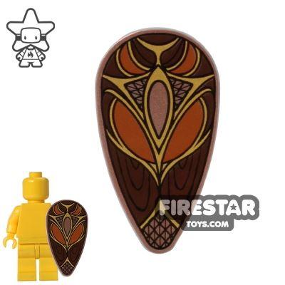 LEGO -The Hobbit Oval Shield - Gold Swirl Pattern
