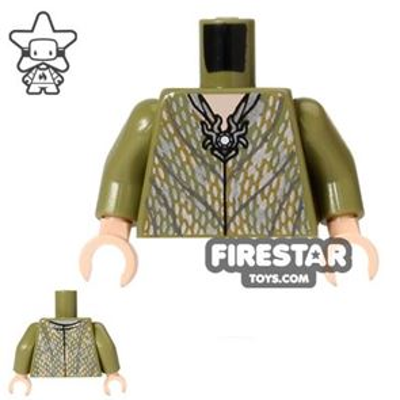 LEGO Mini Figure Torso - Thranduil Elf - Silver Robe