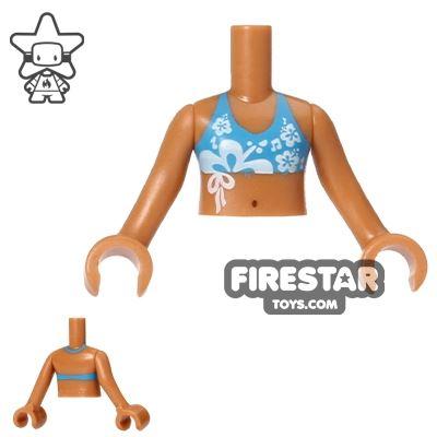 LEGO Friends Mini Figure Torso - Bikini - Dark Azure