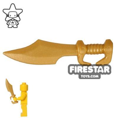 BrickWarriors - Spartan Sword - Pearl Gold