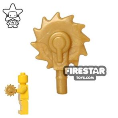 BrickWarriors - Buzzsaw Hand - Pearl Gold