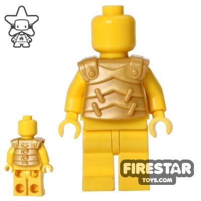 BrickWarriors - Lobster Armour - Pearl Gold