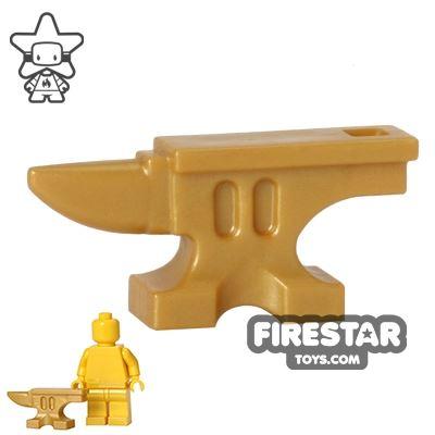 BrickWarriors - Anvil - Pearl Gold