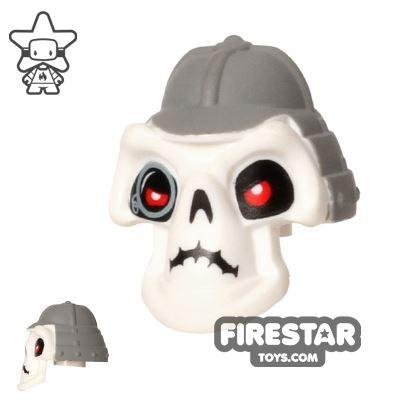 LEGO Mini Figure Heads - Ninjago - Kruncha - Gray Helmet