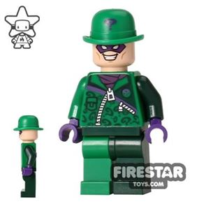 LEGO Super Heroes Minifigure The Riddler Dark Green Outfit