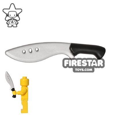 BrickForge - Kukri - Silver Blade - Black Handle