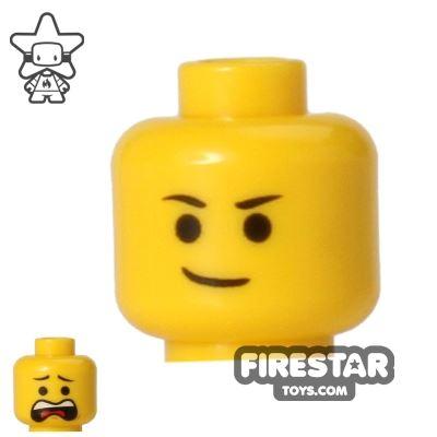 LEGO Mini Figure Heads - Lopsided Smile/Scared