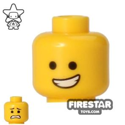 LEGO Mini Figure Heads - Open Smile/Scared