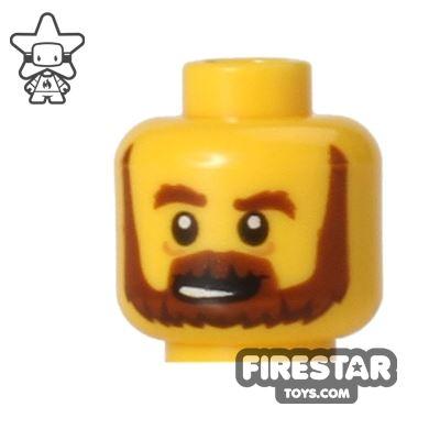 LEGO Mini Figure Heads - Brown Beard