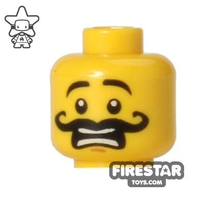 LEGO Mini Figure Heads - Curly Moustache - Scared