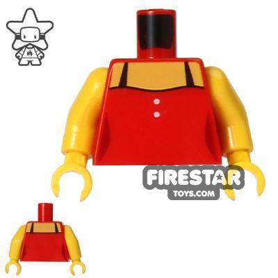 LEGO Mini Figure Torso - Red Vest Top