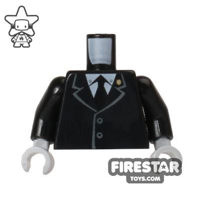 LEGO Mini Figure Torso - Black Suit