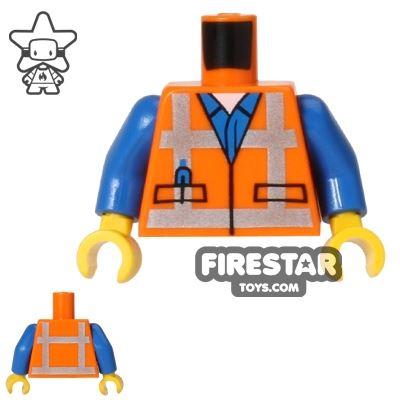 LEGO Mini Figure Torso - Orange Construction Vest