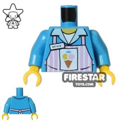 LEGO Mini Figure Torso - Ice Cream Parlour Uniform - Mike