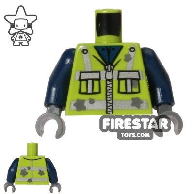 LEGO Mini Figure Torso - Garbage Man Vest