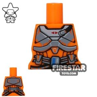 Arealight Mini Figure Torso - Space Armour - Orange