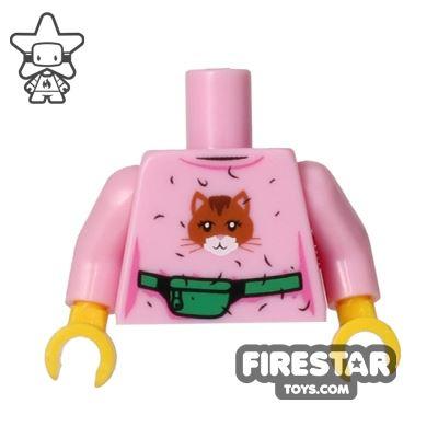 LEGO Mini Figure Torso - Pink Cat Sweater