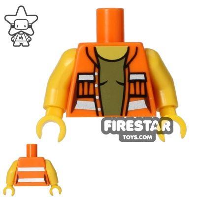 LEGO Mini Figure Torso - Open Construction Jacket