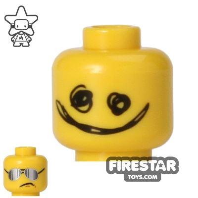 LEGO Mini Figure Heads - Scribble Face/Silver Sunglasses