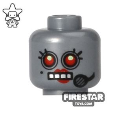 LEGO Mini Figure Heads - Female Robot - Headset