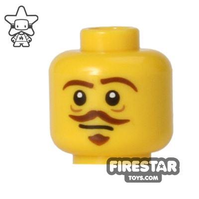 LEGO Mini Figure Heads - Brown Goatee and Moustache