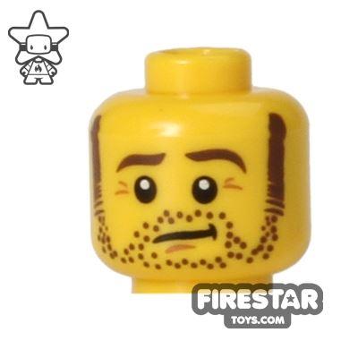 LEGO Mini Figure Heads - Stubble and Sideburns