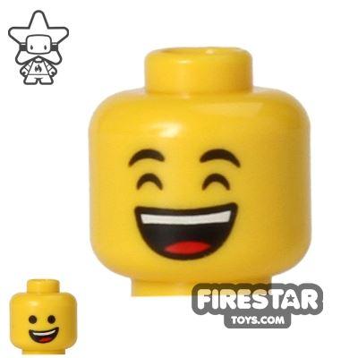 LEGO Mini Figure Heads - Smile and Laughing