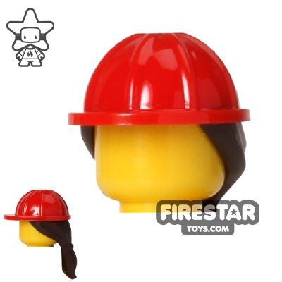 LEGO Construction Hard Hat Helmet with Ponytail
