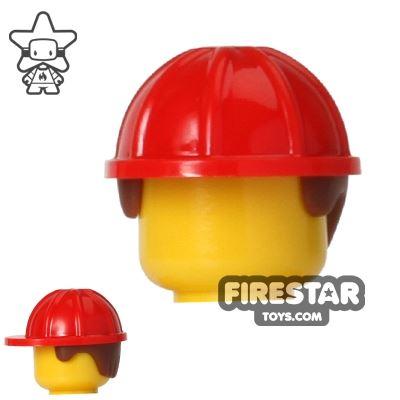 LEGO Construction Hard Hat Helmet with Hair