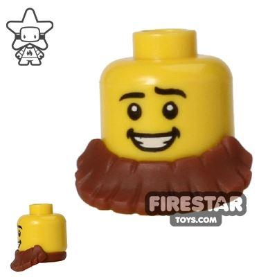 LEGO Hair - Beard Short - Reddish Brown