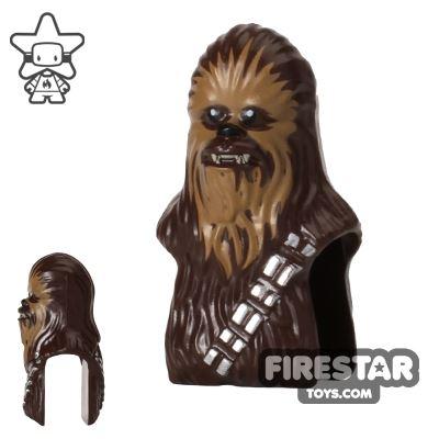 LEGO Mini Figure Heads - Star Wars Chewbacca - Dark Tan Face