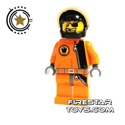 LEGO Agent Mini Figure - Gold Tooth - Helmet