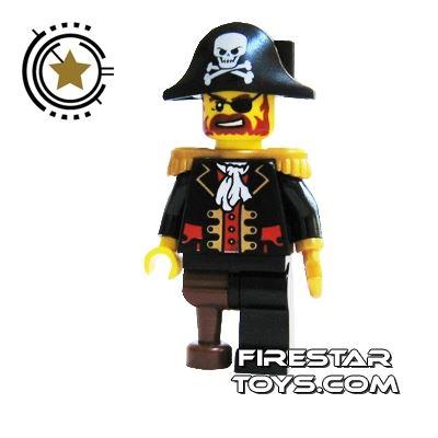 LEGO Pirate Mini Figure - Captain Brickbeard