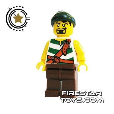 LEGO Pirate Mini Figure - Pirate - Dark Green Bandana