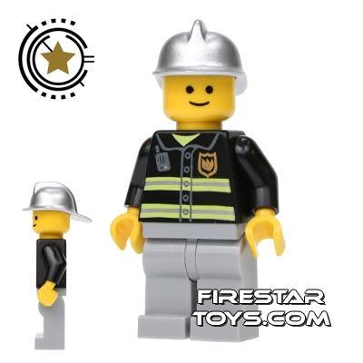 LEGO City Mini Figure - Fireman - Standard Grin