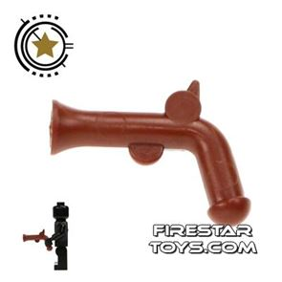 LEGO Gun - Pirate Flintlock Pistol - Reddish Brown