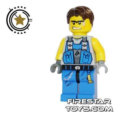 LEGO Power Miners Minifigure Orange Scar
