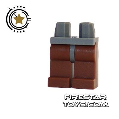 LEGO Minifigure Legs - Hips DARK BLUEISH GRAY - Legs