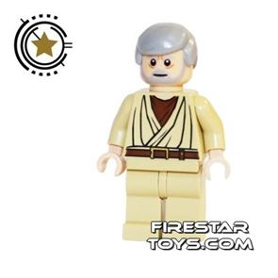 LEGO Star Wars Mini Figure - Obi-Wan Kenobi Light Flesh White Pupils