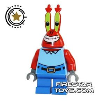 LEGO Spongebob Mini Figure - Mr Krabs Large Grin