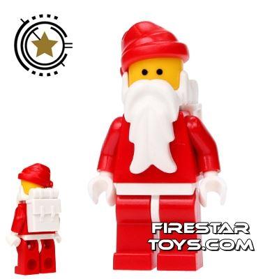 LEGO Holiday Mini Figure - Santa - Father Christmas White Backpack